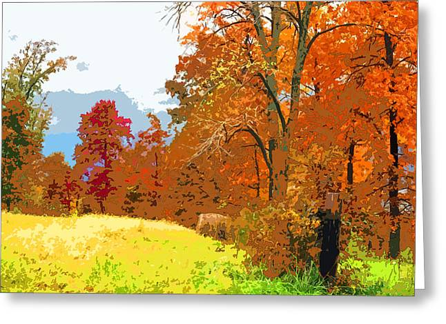 Indiana Autumn Greeting Cards - Autumn Pasture Image Greeting Card by Paul Price