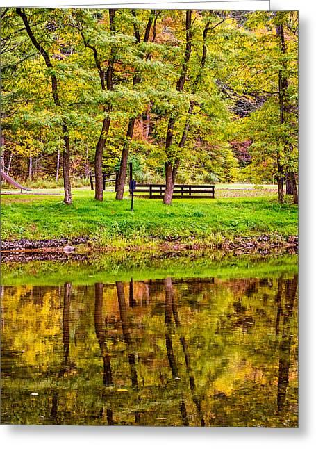 Bull Creek Greeting Cards - Autumn Reflection Greeting Card by Steve Harrington