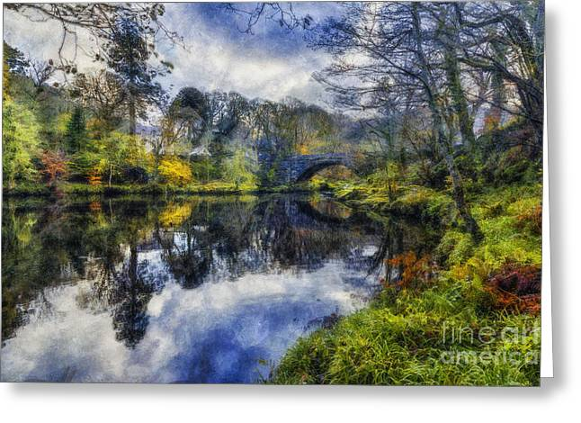 Fall River Scenes Digital Greeting Cards - Autumn Reflections Greeting Card by Ian Mitchell