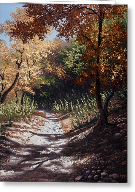 Kyle Wood Greeting Cards - Autumn Trails Greeting Card by Kyle Wood