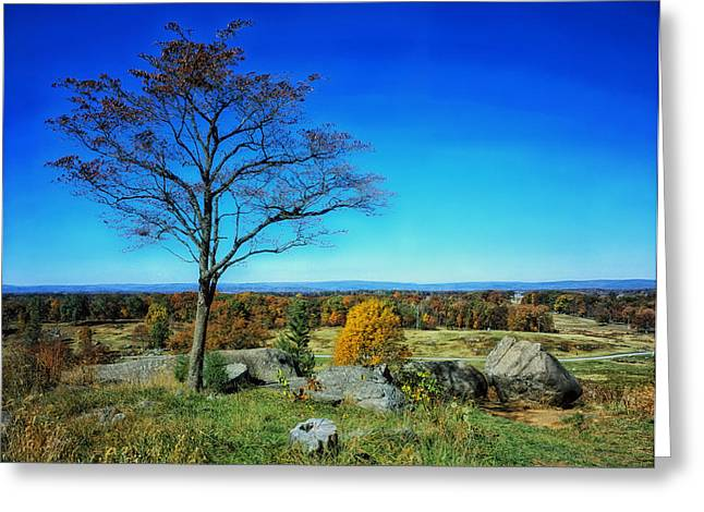 Civil War Site Greeting Cards - Autumn View on Little Round Top - Gettysburg Greeting Card by Pixabay