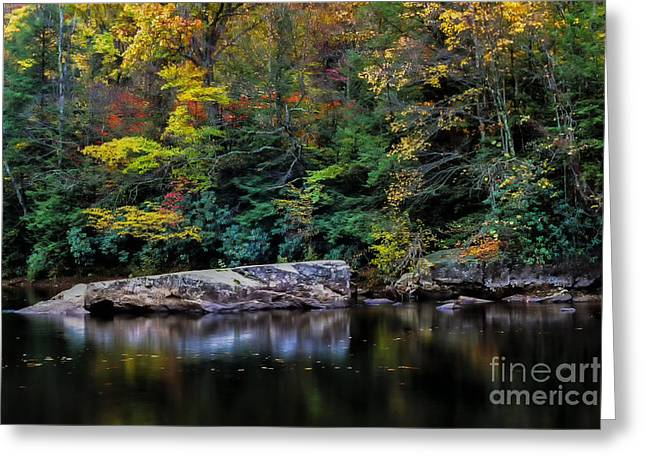 Allegheny Mountains Greeting Cards - Autumn Williams River Greeting Card by Thomas R Fletcher