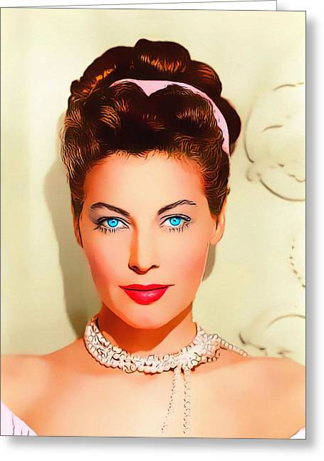 Musical Film Mixed Media Greeting Cards - Ava Gardner in One Touch of Venus Greeting Card by Art Cinema Gallery