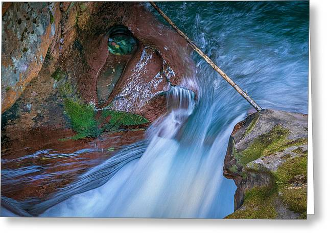 Clean Water Greeting Cards - Avalanche Gorge Glacier National Park  Greeting Card by Rich Franco