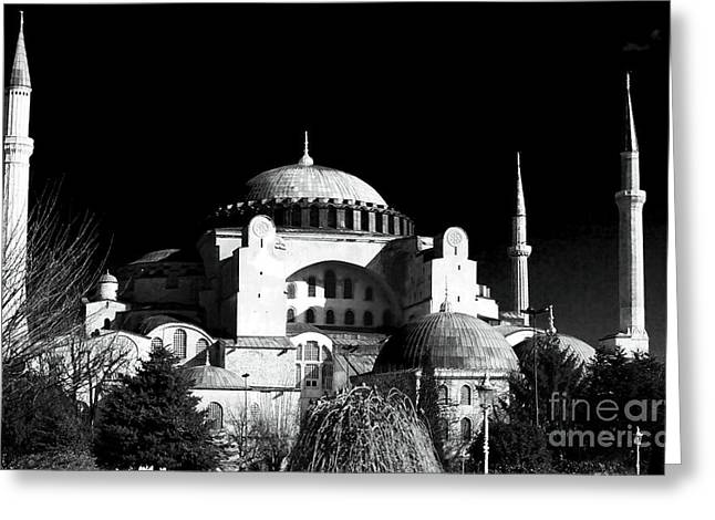 Aya Sofya Greeting Card by John Rizzuto
