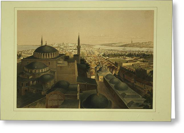 Jihad Greeting Cards - Ayasofya Mosque Greeting Card by Celestial Images
