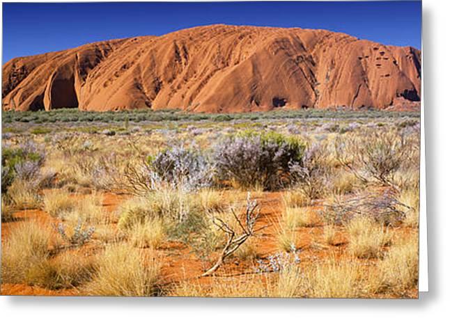 Ayers Rock Greeting Cards - Ayers Rock, Uluru-kata Tjuta National Greeting Card by Panoramic Images