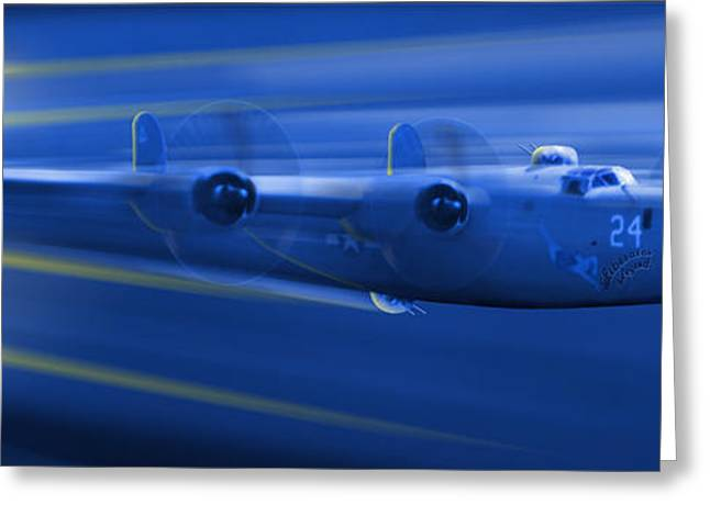 Fighters Greeting Cards - B-24 Liberator Legend Greeting Card by Mike McGlothlen