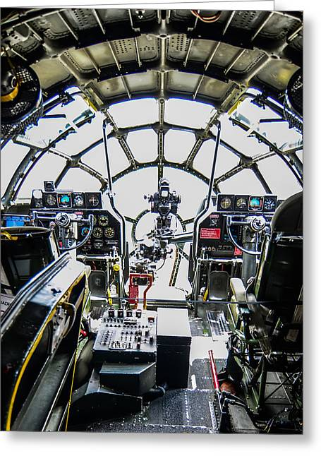 B 29 Superfortress Cockpit  Greeting Card by Puget  Exposure