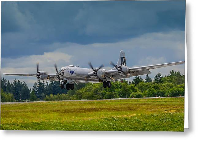 Media Exposure Greeting Cards - B-29 Superfortress  Greeting Card by Puget  Exposure