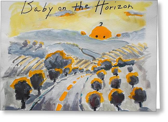 Baby On The Horizon Greeting Card by Margaret  Plumb