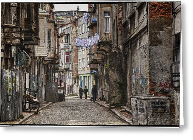 Back Alley Greeting Cards - Back Street Greeting Card by Joan Carroll