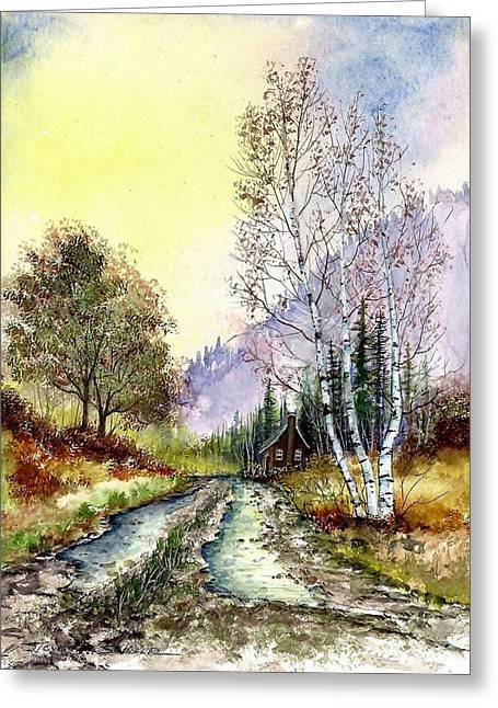 Backroads Greeting Card by Steven Schultz