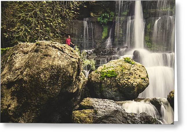 Branch Hill Pond Greeting Cards - Bajouca Waterfall IV Greeting Card by Marco Oliveira