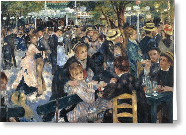 Renoir Greeting Cards - Bal du moulin de la Galette Greeting Card by Pierre-Auguste Renoir