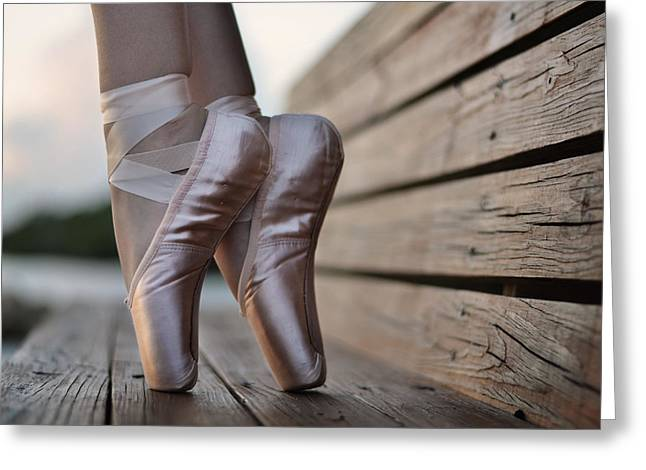 Ballet Dancers Greeting Cards - Balance Greeting Card by Laura  Fasulo