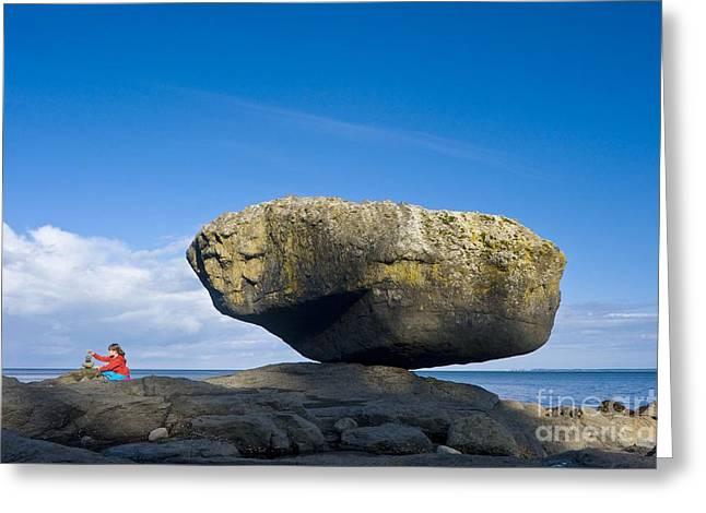 Charlotte Greeting Cards - Balance Rock, British Columbia Greeting Card by David Nunuk