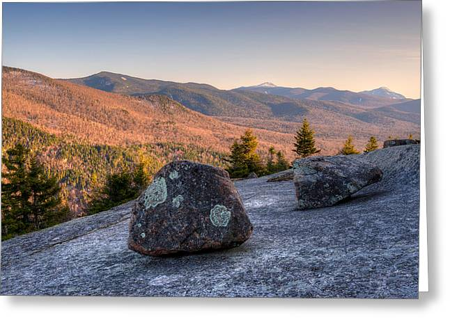 """adirondack Park"" Greeting Cards - Balanced Rocks On Pitchoff Mountain Greeting Card by Panoramic Images"