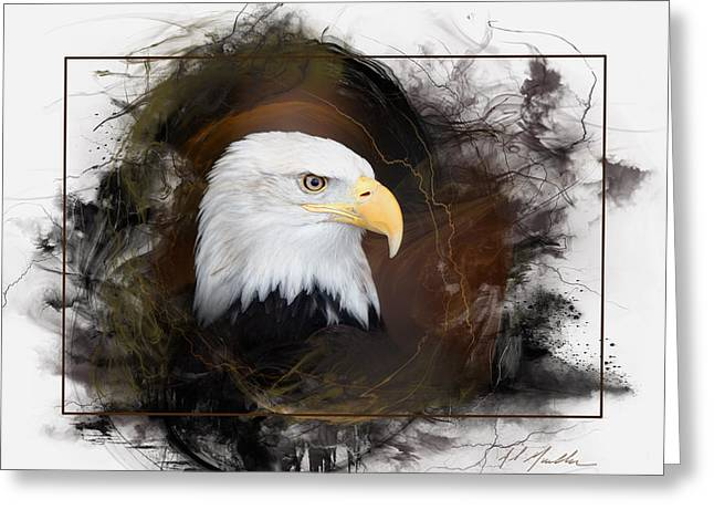Sharp Claws Greeting Cards - Bald Eagle Portrait Greeting Card by Al  Mueller