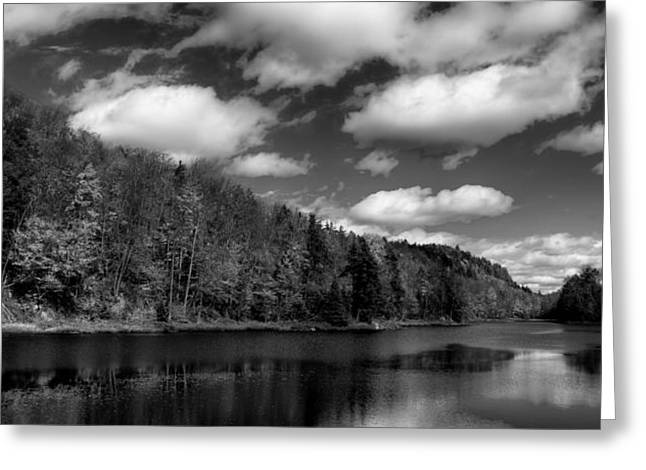 Old And New Greeting Cards - Bald Mountain Pond in the Adirondack Mountains Greeting Card by David Patterson