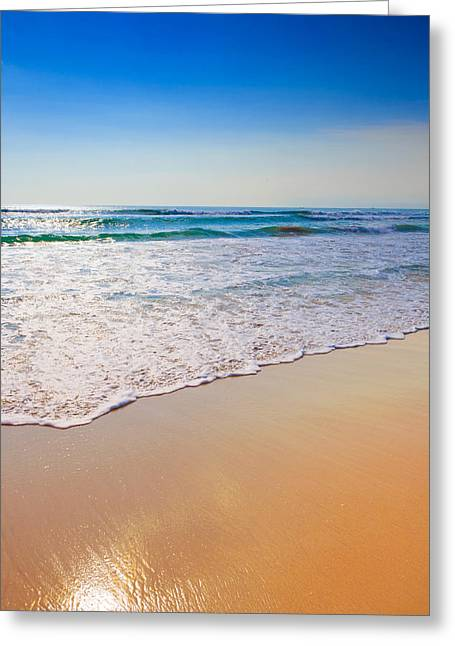 Scenic Greeting Cards - Balinese Beach Greeting Card by Modern Art Prints
