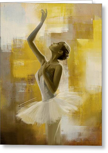 Dancer Art Greeting Cards - Ballerina  Greeting Card by Corporate Art Task Force