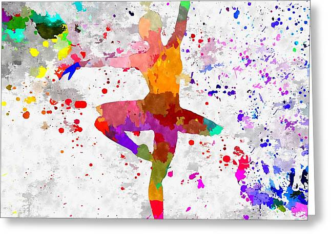 Ballet Of Colors Greeting Cards - Ballerina Greeting Card by Daniel Janda