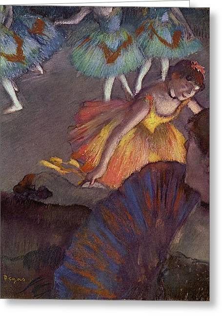 Ballet Dancers Digital Greeting Cards - Ballet Greeting Card by Edgar Degas