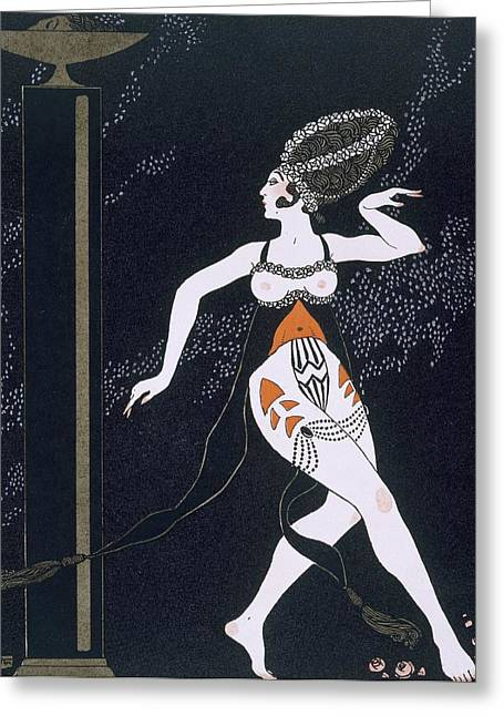 Attractiveness Greeting Cards - Ballet scene with Tamara Karsavina Greeting Card by Georges Barbier