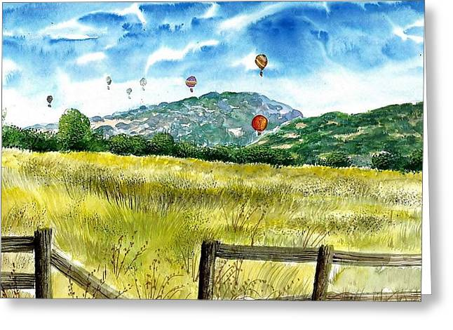 Balloon Race Greeting Card by Steven Schultz