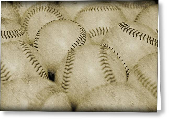 Athletic Love Greeting Cards - Balls Greeting Card by Malania Hammer