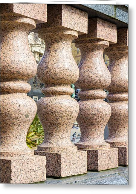 Classical Columns Greeting Cards - Balustrade wall Greeting Card by Tom Gowanlock