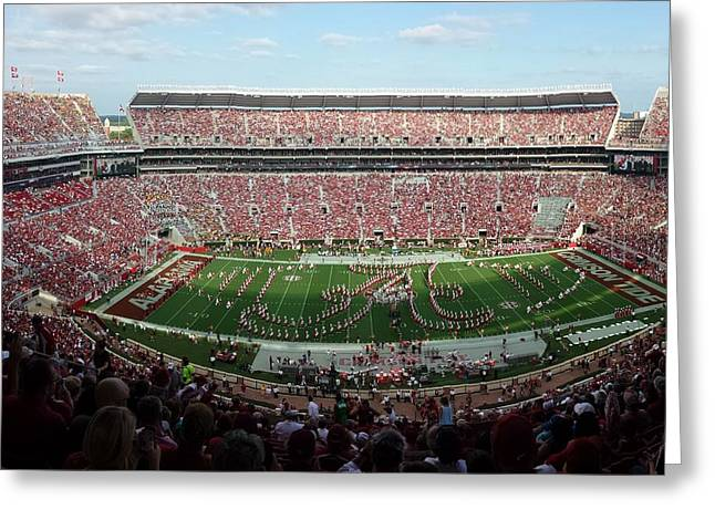 University Of Alabama Greeting Cards - Bama A Panorama Greeting Card by Kenny Glover