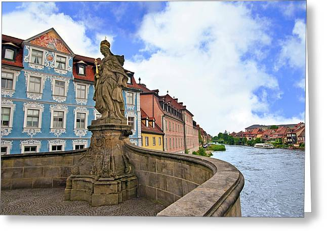 Bamberg, Germany, Bavaria, Queen Greeting Card by Miva Stock