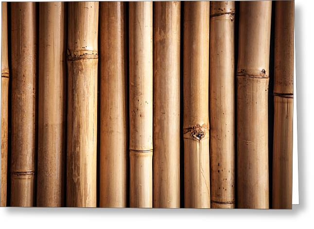 Bamboo Fence Greeting Cards - Bamboo  Greeting Card by Modern Art Prints
