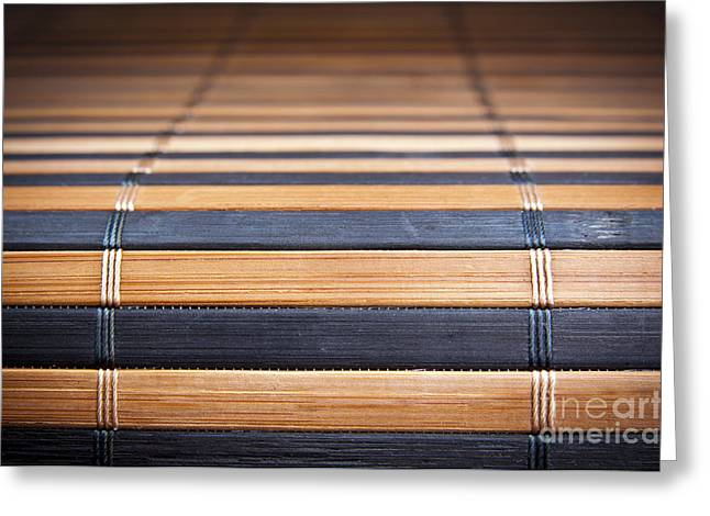 Matting Greeting Cards - Bamboo Mat Texture Greeting Card by Tim Hester