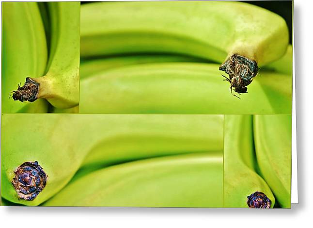 Decorativ Greeting Cards - Banana Collage Greeting Card by Werner Lehmann