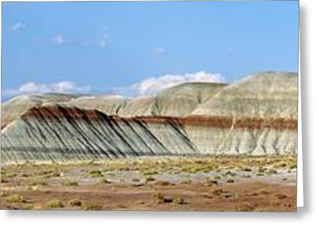 Rock Slope Greeting Cards - Banded Sandstone Rock Greeting Card by Pekka Parviainen