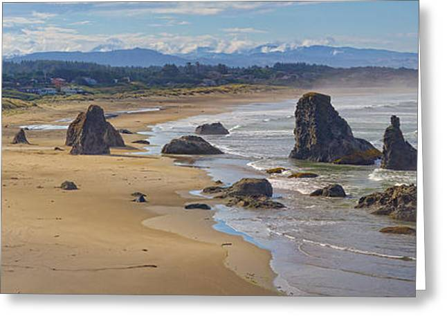 Pacific Tapestries - Textiles Greeting Cards - Bandon Beach Landscape Greeting Card by Dennis Bucklin