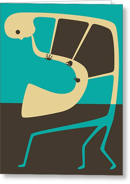 Saxophones Greeting Cards - The Blues Sax Greeting Card by Jazzberry Blue