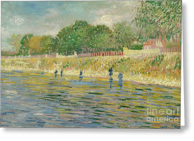 River View Greeting Cards - Bank of the Seine Greeting Card by Vincent van Gogh