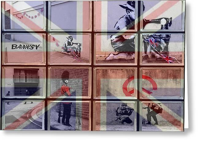 Banksy Street Art Greeting Card by David French