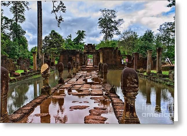 Asien Greeting Cards - Banteay Srei Greeting Card by Joerg Lingnau