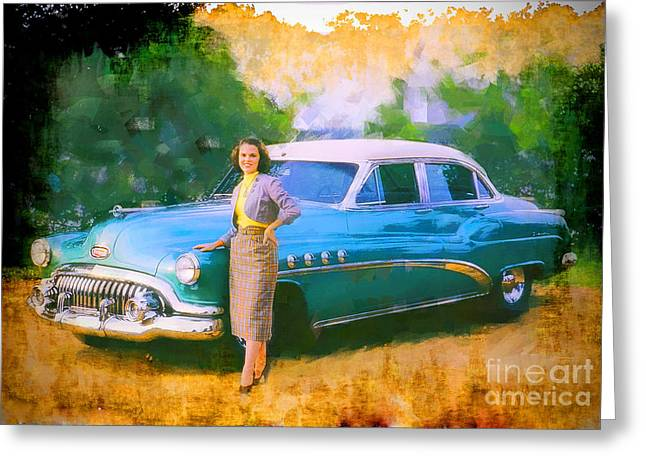 Staley Greeting Cards - Barbara and Buick Greeting Card by Chuck Staley