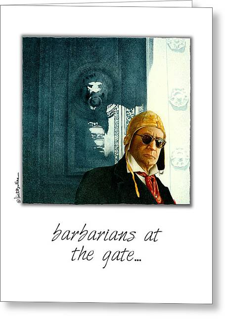 Chronicles Greeting Cards - Barbarians At The Gate... Greeting Card by Will Bullas