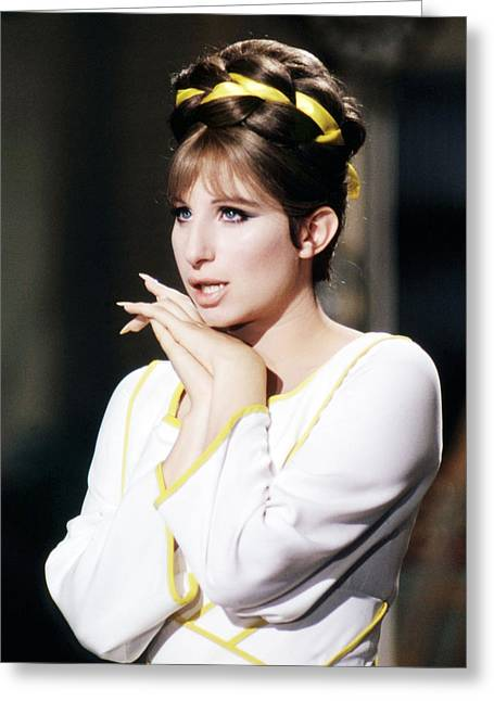 Funny Photographs Greeting Cards - Barbra Streisand in Funny Lady  Greeting Card by Silver Screen