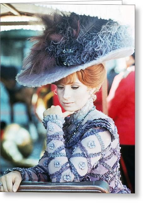 Hello Greeting Cards - Barbra Streisand in Hello, Dolly!  Greeting Card by Silver Screen