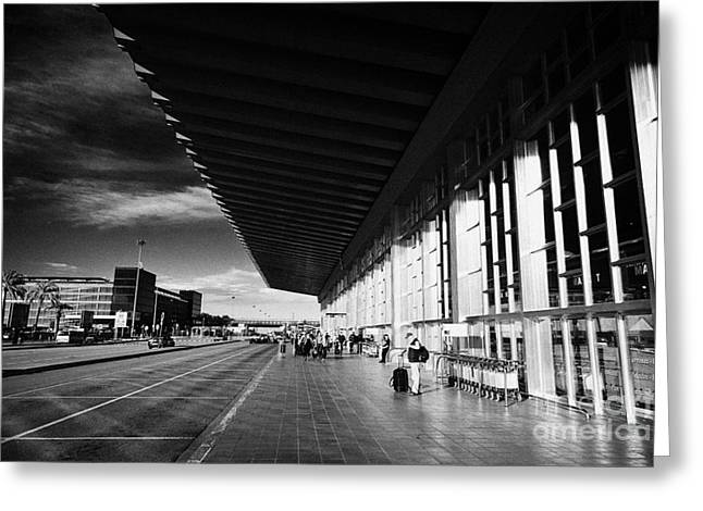 Catalunya Greeting Cards - Barcelona El Prat Airport Terminal 2 Catalonia Spain Greeting Card by Joe Fox