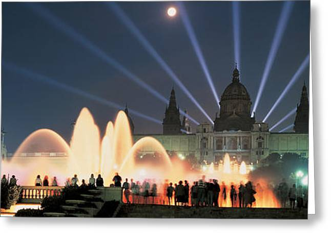 Visitors Greeting Cards - Barcelona Spain Greeting Card by Panoramic Images