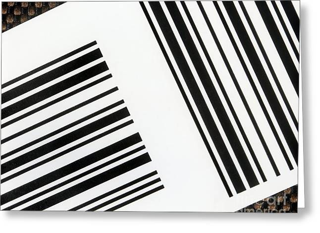 Label Greeting Cards - Barcodes Greeting Card by Martin Bond